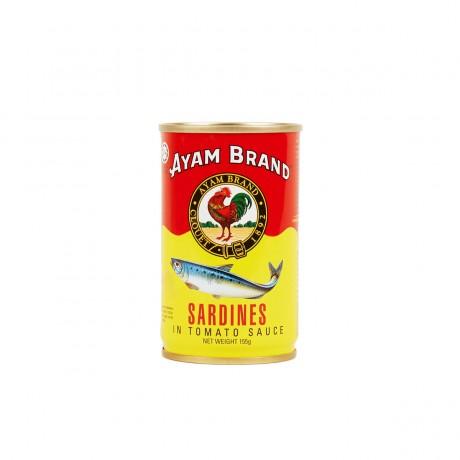 Ayam Brand Sardines in Tomato Sauce (Malaysia Small Jitneys) 155gm