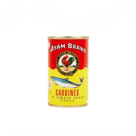 Ayam Brand Sardines in Tomato Sauce (Small Jitneys) 155gm