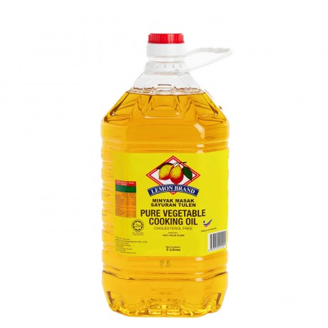 Lemon Brand Pure Vegetable Cooking Oil 5L